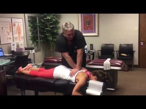 (94) Top Houston Sports Chiropractor Dr Johnson Treating Star Celebrity TNA 3 X Champion Brooke Adams - YouTube