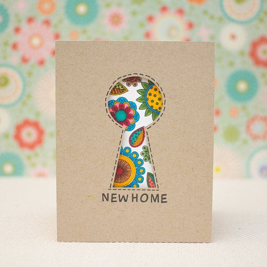 Create a keyhole garden card for someone buying a home. Step-by-step tutorial with photos.