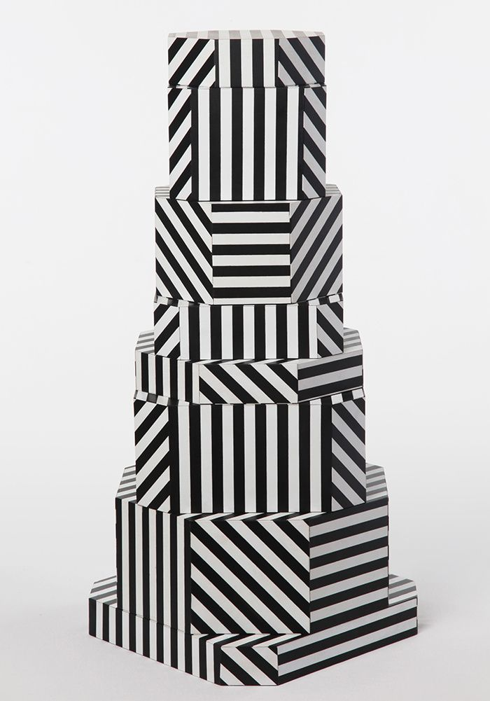 Boîtes Ziggurat, design Oeuffice #patterns