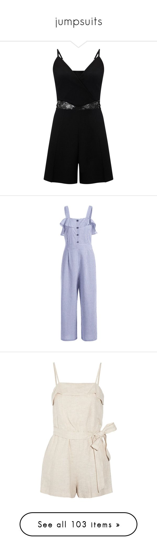 """""""jumpsuits"""" by georgia-aemelly ❤ liked on Polyvore featuring miss selfridge, jumpsuits, stripe romper, overlay jumpsuit, playsuit jumpsuit, striped romper, overlay romper, rompers, playsuits and dresses"""