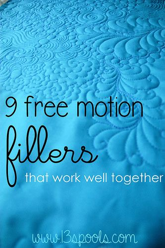 Use and combine these fmq patterns to create a lovely background filler on your quilt!