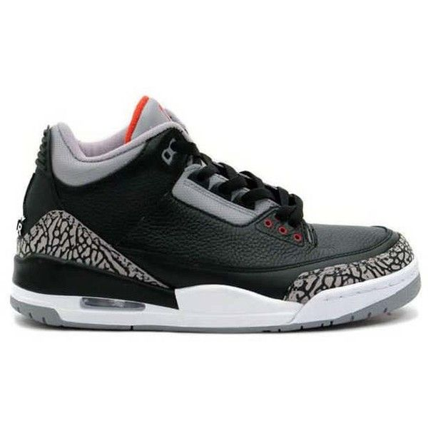 Confirmed Air Jordan 3 Black/Cement Returning in 2011 (590 RON) ❤ liked on Polyvore featuring shoes, jordans, sneakers and shoe game