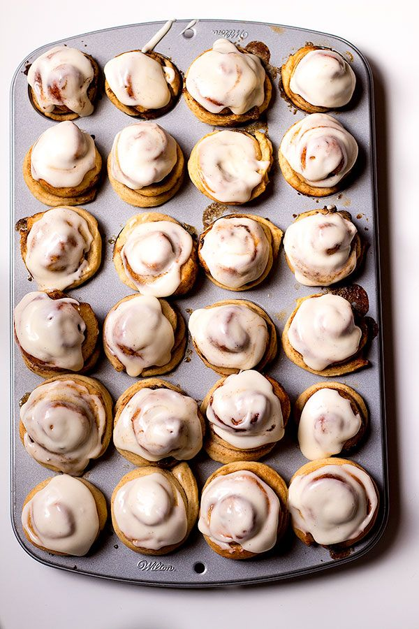 mini cinnamon rolls with glaze perfect for lazy mornings or breakfast.