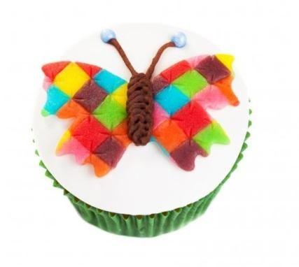 Vlinder cupcakes van patchwork