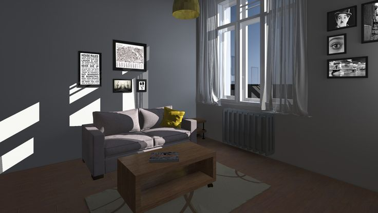 living room design idea of a new hostel in Budapest