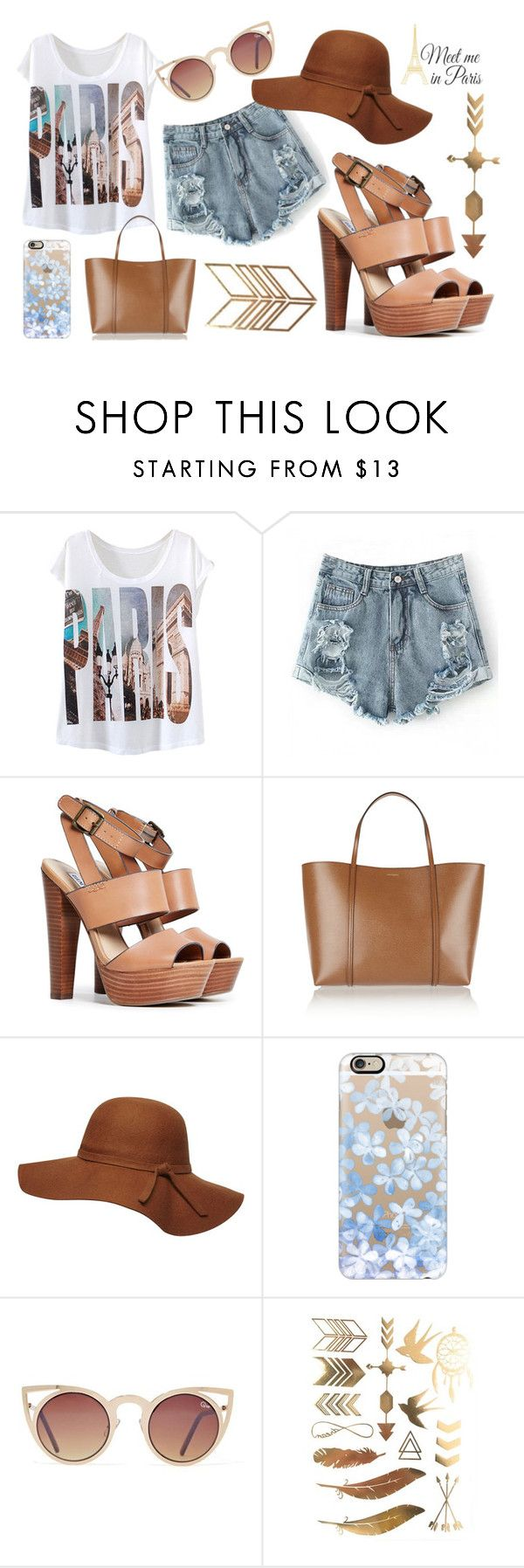 """""""Meet me in Paris"""" by lenasin ❤ liked on Polyvore featuring Steve Madden, Dolce&Gabbana, Dorothy Perkins, Casetify, Quay and WallPops"""