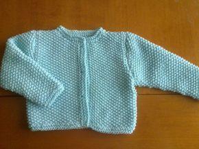 Esta chaqueta es de la talla 3-6 meses realizada con hilo de algodón Las agujas que utilicé son del 2,5 no sé la marca del ...