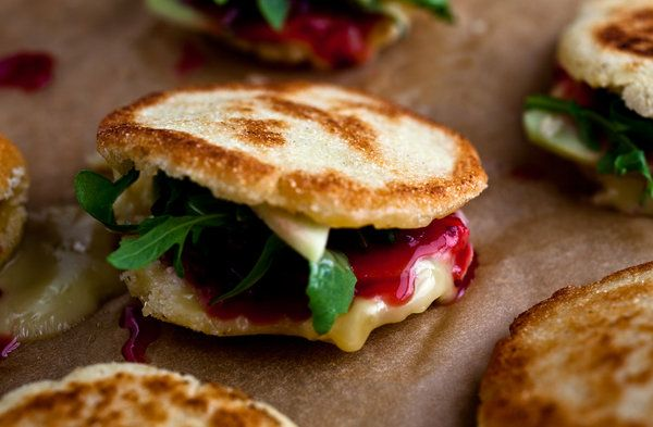 Cranberry-Brie Arepa | Vegetarian Thanksgiving Recipes - Well - NYTimes.comVegetarian Thanksgiving, Cranberry'S Bri Arepas, Thanksgiving Recipe, Vegetarian Recipe, Cranberries Brie, New York Times, Nytimes Com, Brie Arepas, Leftover Recipe
