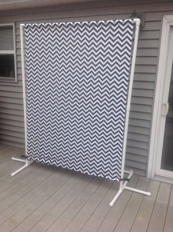 Portable Backdrop Stand W Black Chevron Fabric 1 Quot Pvc
