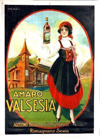Amaro Valsesia - circa 1930 vintage poster