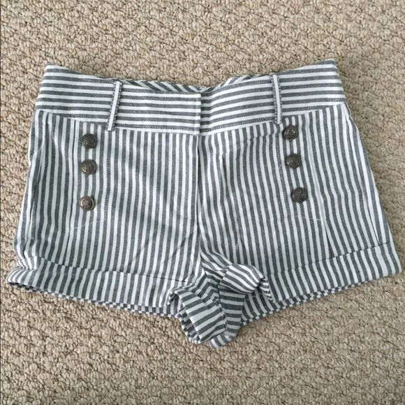 Nautical Shorts Grey and white striped Nautical Shorts. Never worn, they are like new. No stains, rips, tears etc. Shorts