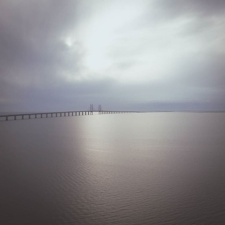 Öresundsbron between Sweden and Denmark. Drone shot  #drone #drohne #dji #aerial #aerialphotography #Sweden #denmark #öresund #malmö #copenhagen #photo #water #ocean #dronestagram #dronephotography #scandinavia #Schweden #dänemark #nature #bridge