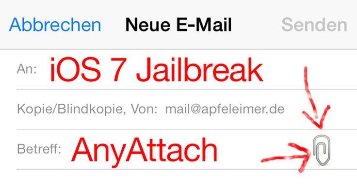 AnyAttach für iOS 7 (Cydia Tweak): Bilder, Musik, mp3 vom iPhone per Email verschicken! - http://apfeleimer.de/2014/03/anyattach-fuer-ios-7-cydia-tweak-bilder-musik-mp3-vom-iphone-per-email-verschicken - AnyAttach ist iOS 7 Jailbreak kompatibel! Der Cydia Tweak AnyAttach von Hanéne Samara und Nikias Bassen aka @pimskeks kann mit Version AnyAttach 1.4-1 endlich auf dem iPhone oder iPad mit iOS 7 genutzt werden. AnyAttach erlaubt das Anhängen von beliebigen Dateien aus dem F