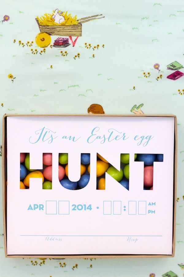 easter egg hunt invitations are my fave
