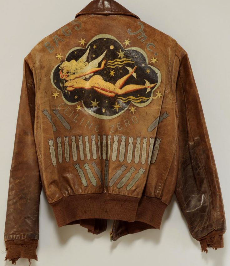 Aviation Pin Ups | WAR PAINT WWII USAAF Type A-2 leather flight...