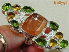 Zilveren kwarts ring