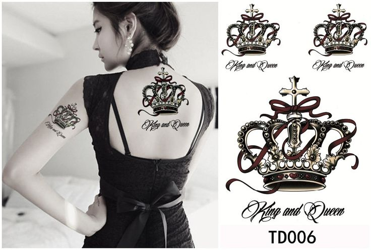 his and hers crown tattoos - Google Search