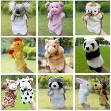 Pluche Handpoppen Eend Kat Hond Varken Vos Kip Koe Koala Poppen Kinderen knuffel Puppets Speelgoed Brinquedo Marionetes Fantoche (China Mainland)