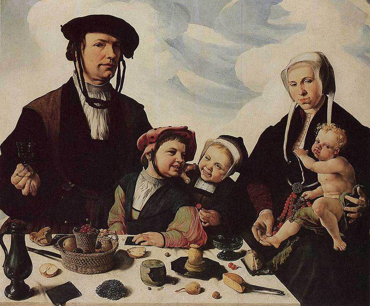 Marten van Heemskerck - Der Haarlemer Patrizier Pieter Jan Foppeszoon mit seiner Familie (1530) - Öl auf Eiche - 119x141 cm - Staatliche Kunstsammlung, Kassel