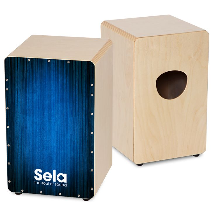 The Sela Varios Blue cajon - the entry-level cajon without compromises.