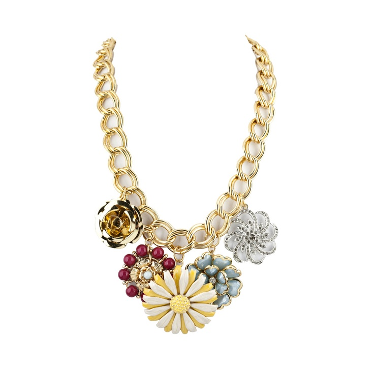 RJ Graziano Large Floral Charm NecklaceShelly Style, Charms Necklaces, Floral Charms, Style Pinboard