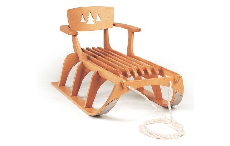Подарите своему ребенку красивые, прочные и быстрые деревянные санки из натуральных материалов!