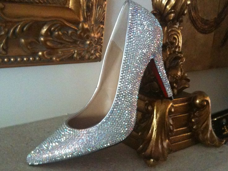 Hand embellished wedding shoes for Aislings Big Day ..