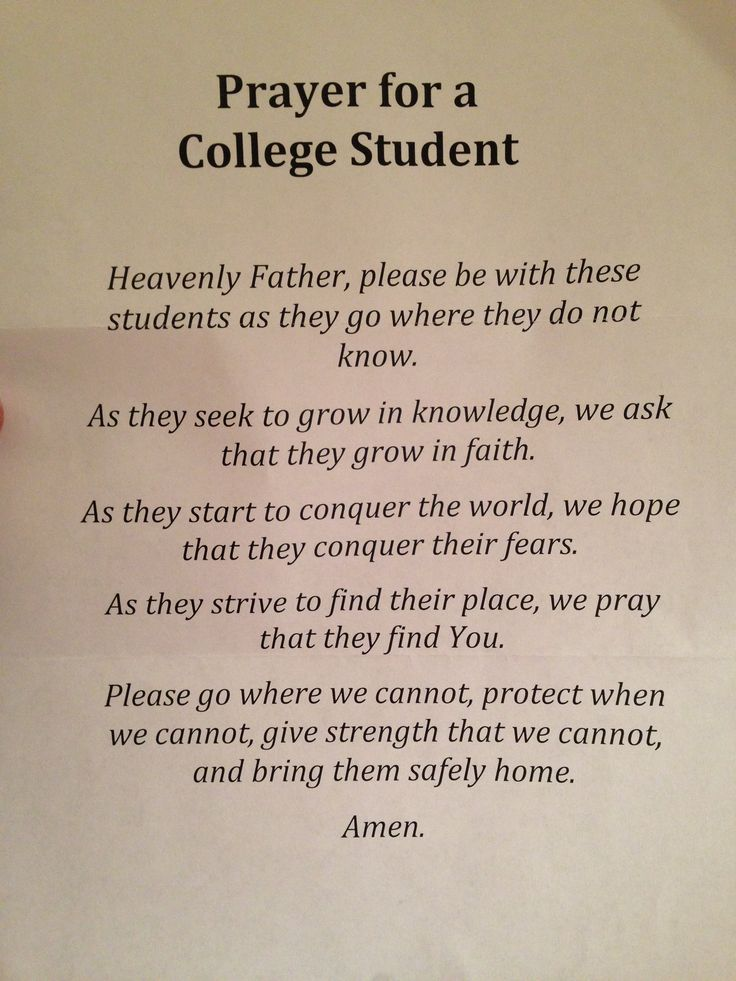 Prayer for college students