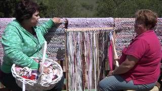 Rag Rug Weaving - YouTube#