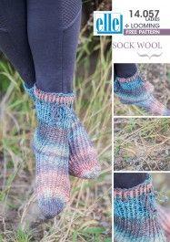 Make these funky socks with Elle yarns Sock Wool