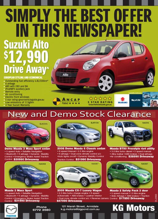 Advert that i put together when i worked at the Armidale Independent.