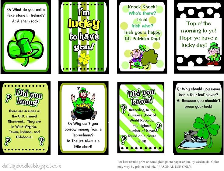St. Patricks Day Lunch Box Notes - Darling Doodles | Darling Doodles