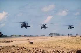 http://www.historyguy.com/Grenada.html  UH-60A Black Hawk Helicopters over Port Salinas, Invasion of Grenada, 1983
