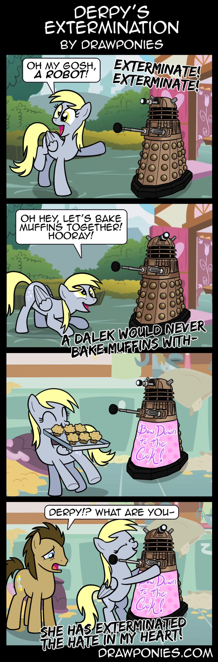 Comic: Derpy's Extermination by drawponies.deviantart.com on @deviantART<<< Derpy could definately do this :)
