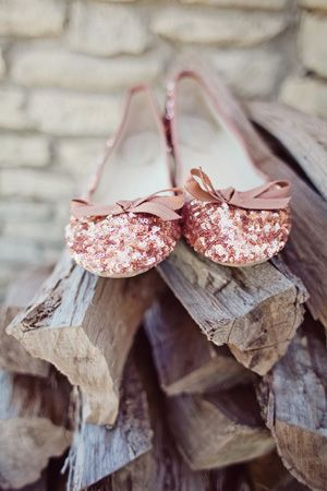 sparkly copper flats