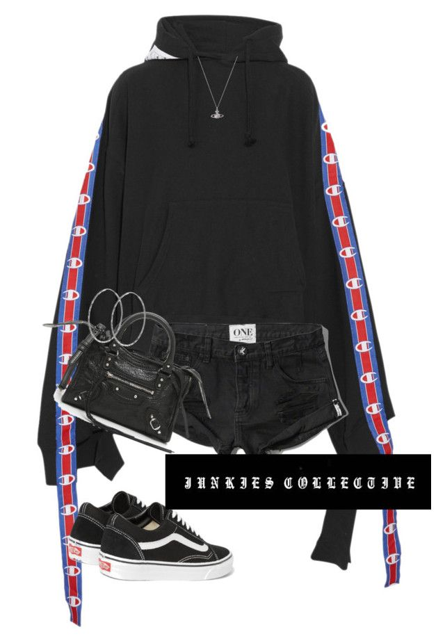"""Airport Attire"" by junkiescollective ❤ liked on Polyvore featuring Vetements, Abercrombie & Fitch, Balenciaga, Vans and Vivienne Westwood"
