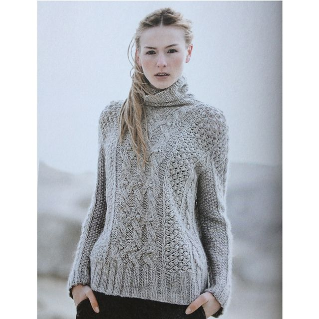 More cabled turtleneck: Buttercup / by Helga Isager