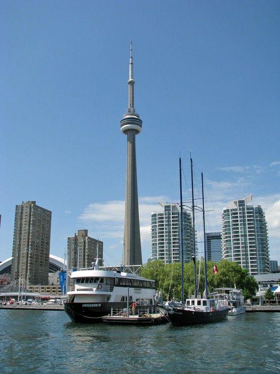 Toronto (nice view) #CNTower #waterfront #lake #Ontario #Canada
