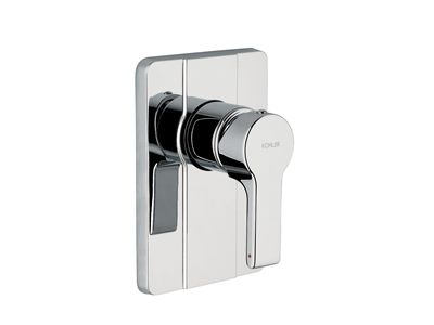 Singulier® Shower or Bath Mixer    Features:    Metal construction  Ceramic discs  Suitable for mains pressure  KOHLER finishes resist tarnishing and corrosion  Diverter version available: allows water to be delivered through a bath spout or shower