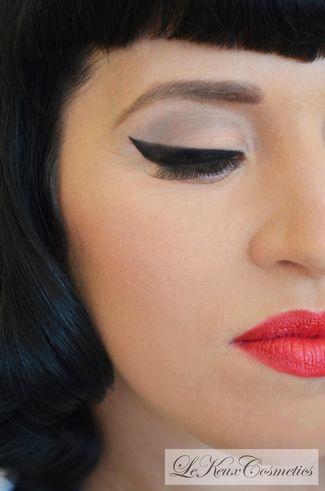 DIY Make-Up: Perfectly Flicked Eyeliner Tutorial   Confetti Daydreams - VINTAGE BRIDAL LOOK  DIY Tutorial Step 2 ♥ #DIY #Vintage #Makeup ♥  ♥  ♥ LIKE US ON FB: www.facebook.com/confettidaydreams  ♥  ♥  ♥
