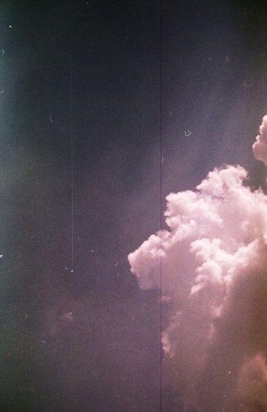 Bia die Wolken wieder lila sind