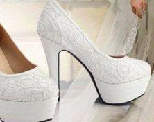 zapatos encaje blanco