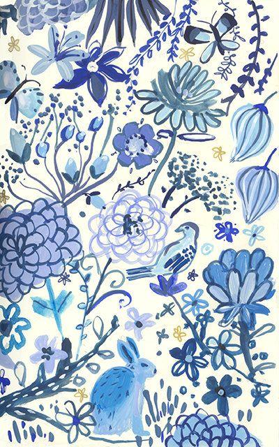 Blue Garden - Archival Print-August Wren