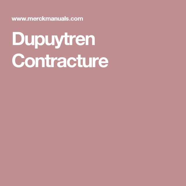 Dupuytren Contracture