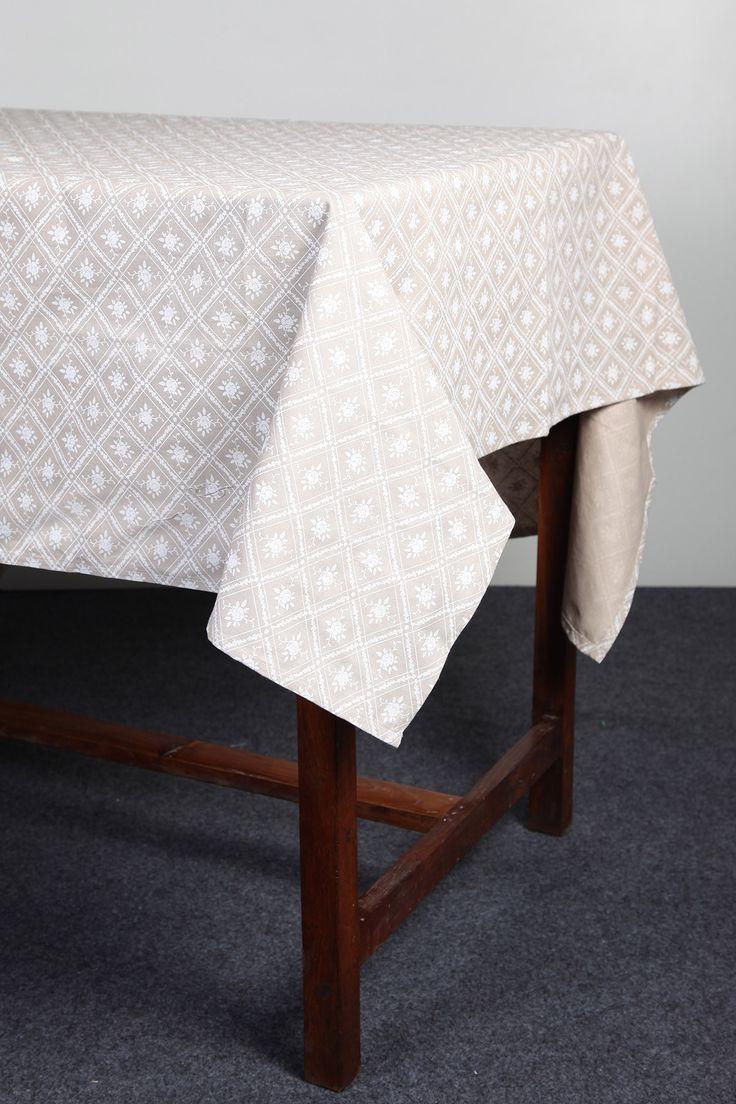 Floral khadi printed tablecloth by Suraaj Linens