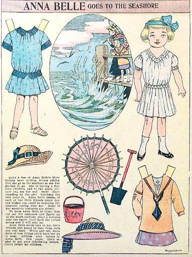 Newspaper doll Anna Belle, 1910 – papercat – Webová alba Picasa