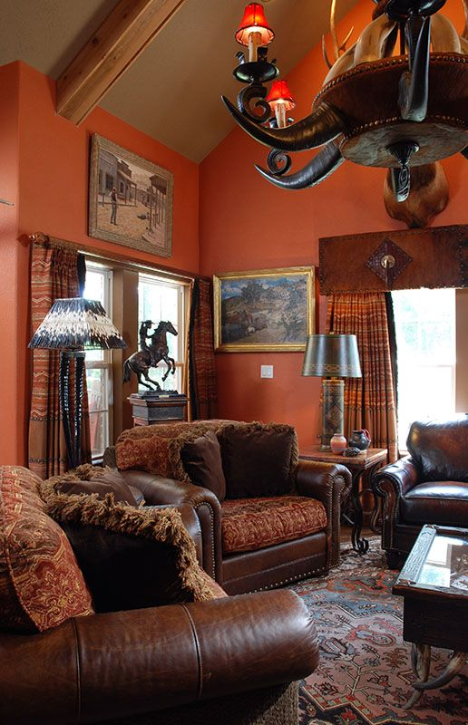cowboy living room warm tones keep it classic and cozy ranch house decor 11033