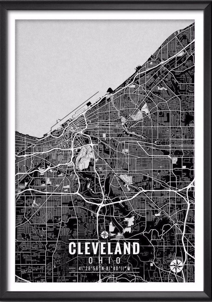 Maryland Map Coordinates%0A Cleveland Ohio Map with Coordinates