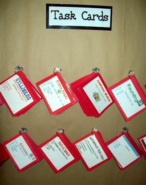 Great ideas for task cards from Denise Talbott
