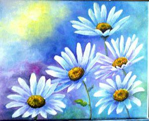daisy to paint | How to paint a Daisy, art by Carol May